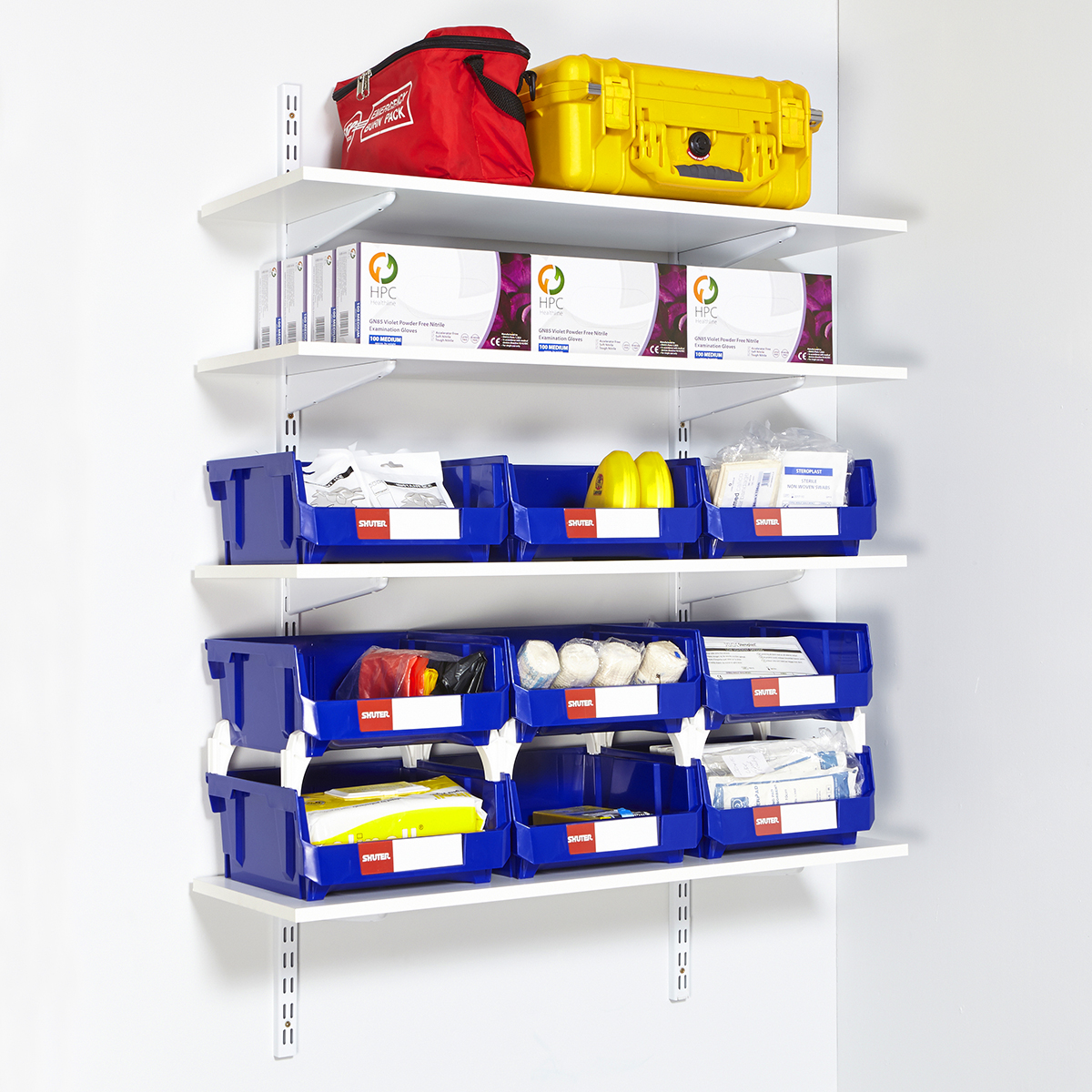 wall mounted shelving kits photo - 2