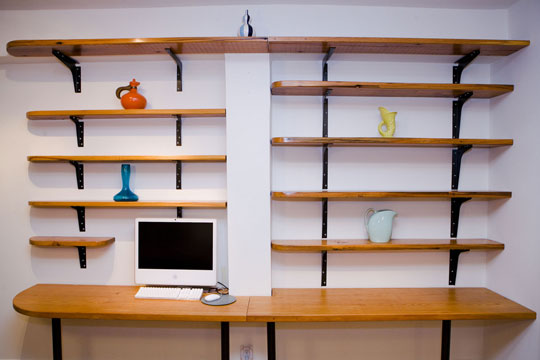 wall mounted shelving kits photo - 4