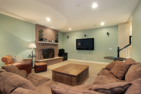 wall paint colors basement photo - 4