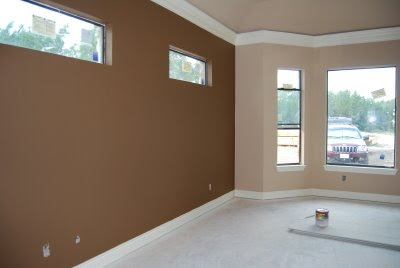 wall paint colors brown photo - 3