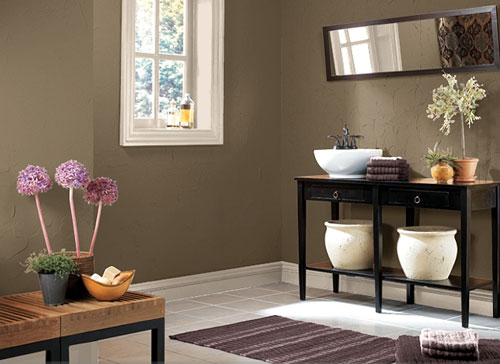 wall paint colors brown photo - 5