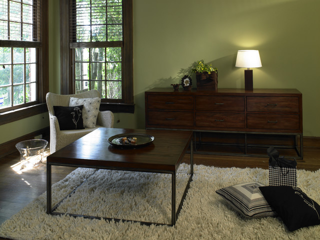 wall paint colors dark wood trim photo - 2