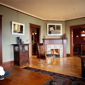 wall paint colors dark wood trim photo - 4