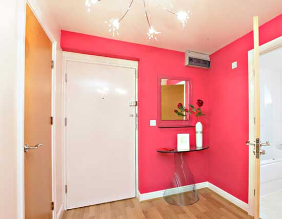 wall paint colors pink photo - 1