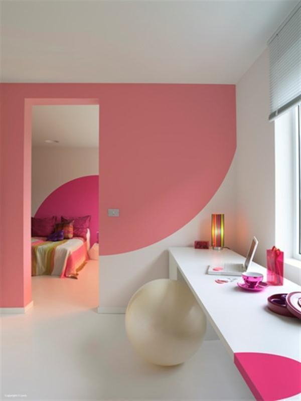 wall paint colors pink photo - 2