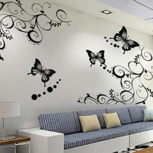 Wall Stickers Flowers Butterflies Photo   3 Home Design Ideas