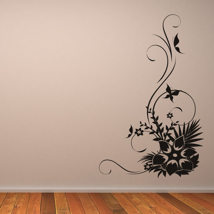 wall stickers flowers butterflies photo - 6