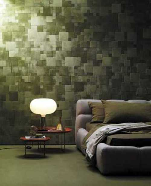 wall tiles design for bedroom photo - 1