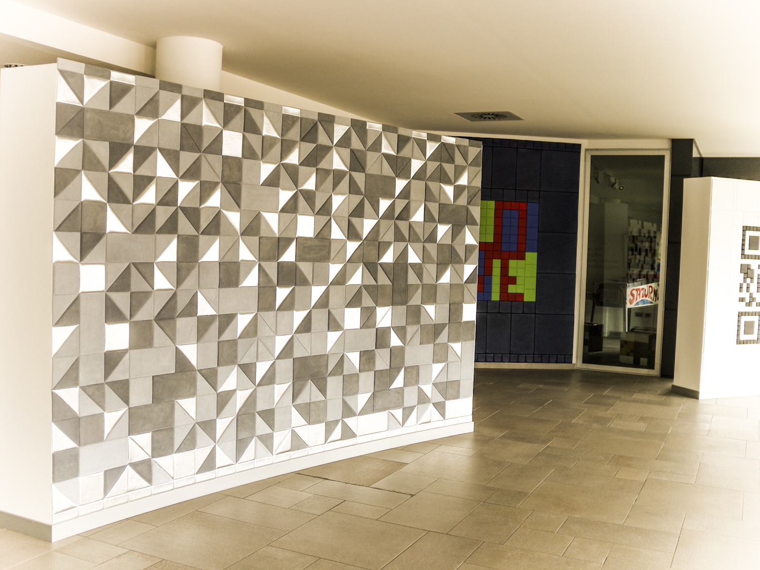 Wall tiles design for hall 10 creatively different ideas for Wall design in hall