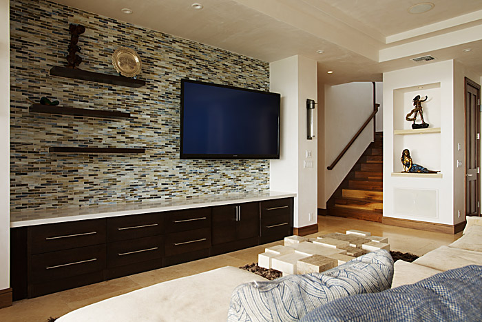 wall tiles designs living room photo - 3