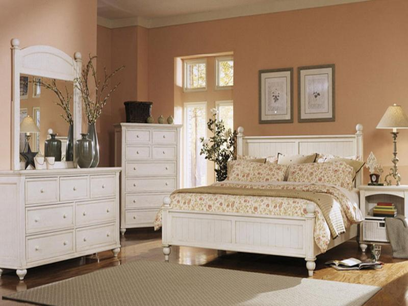 white bedroom furniture decorating ideas photo - 1