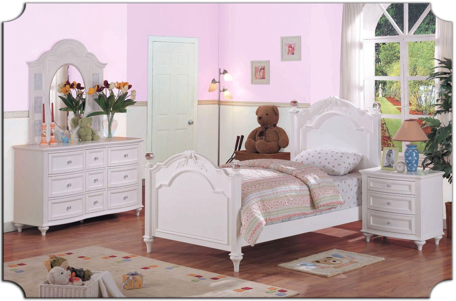 white bedroom furniture for girls photo - 2