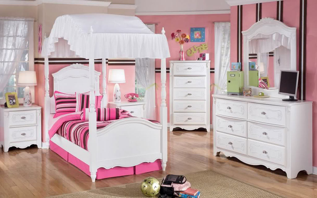 white bedroom furniture for girls photo - 3