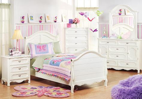 white bedroom furniture for little girls photo - 1