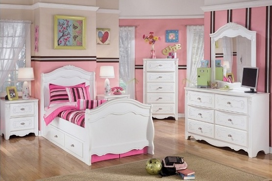 white bedroom furniture for little girls photo - 2