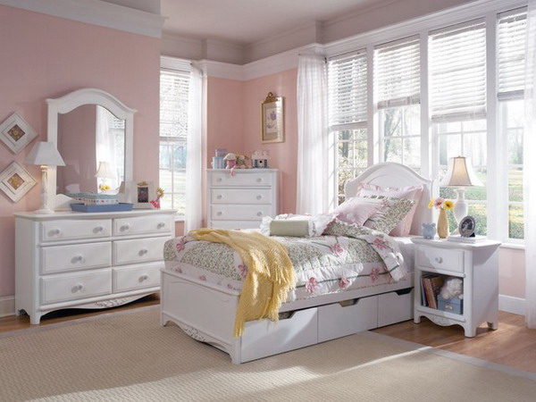 white bedroom furniture sets for girls photo - 1