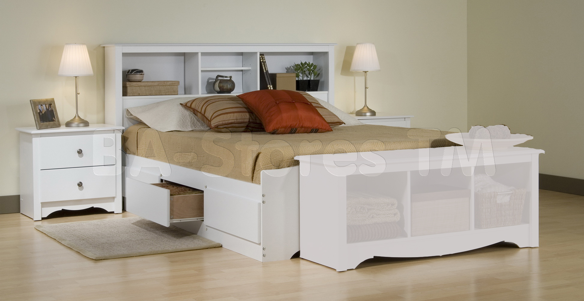 white bedroom furniture sets queen photo - 1