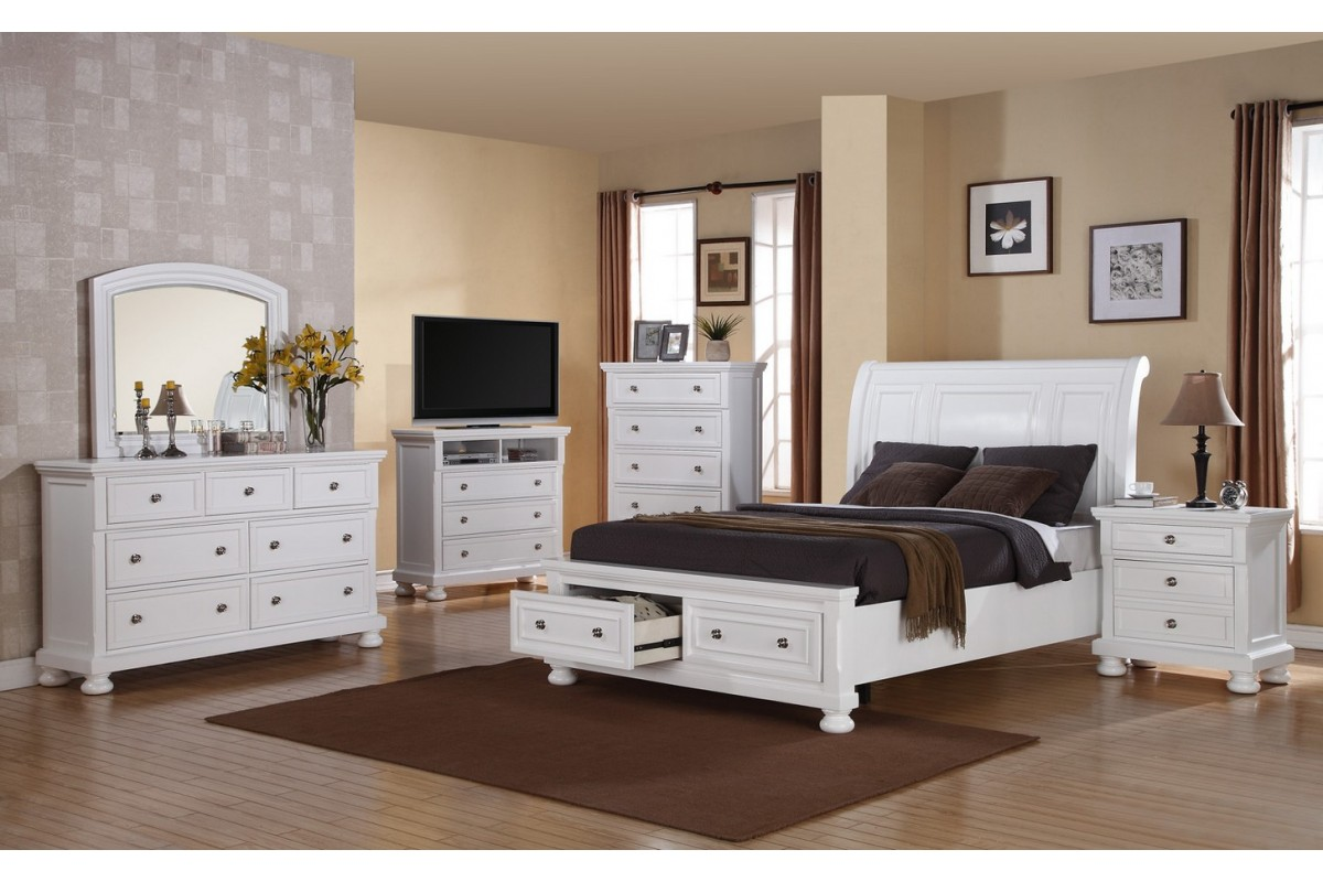 white bedroom furniture sets queen photo - 4