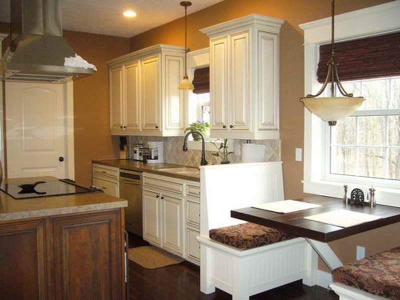 white kitchen cabinets floor color photo - 2