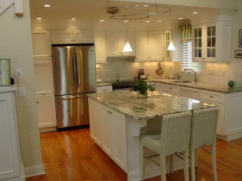 white kitchen cabinets floor color photo - 5