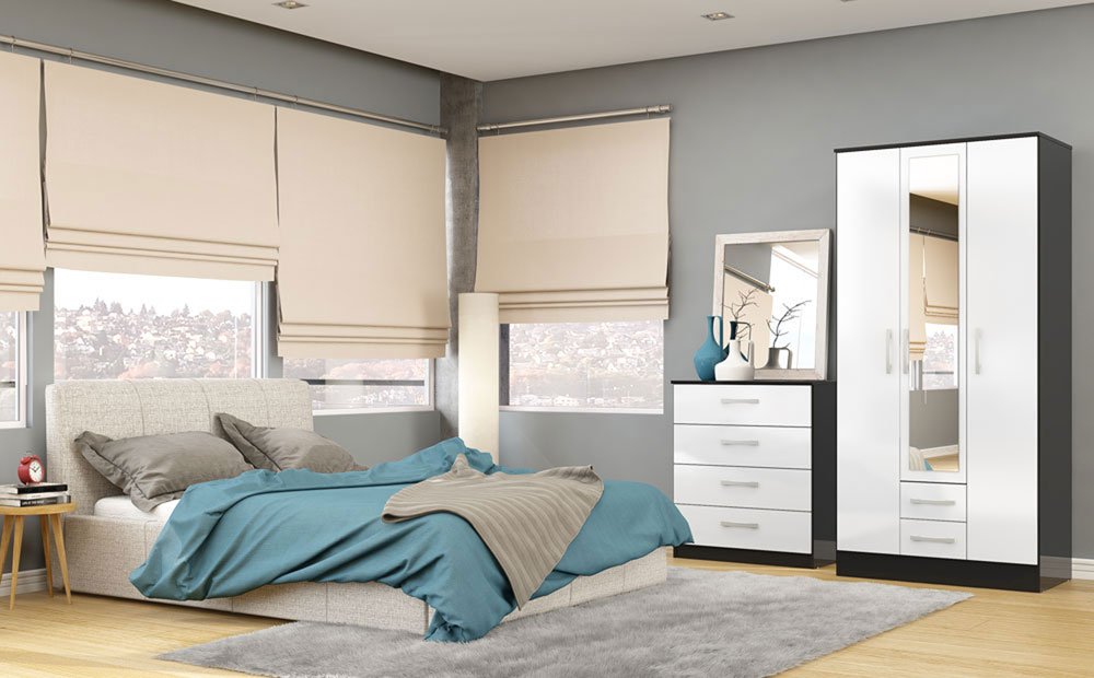 white or black bedroom furniture photo - 5
