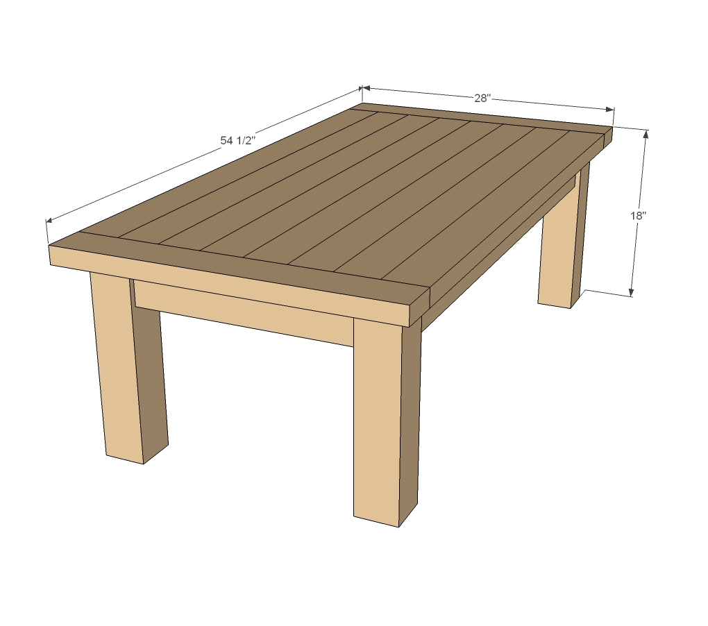 wood coffee table blueprints photo - 1