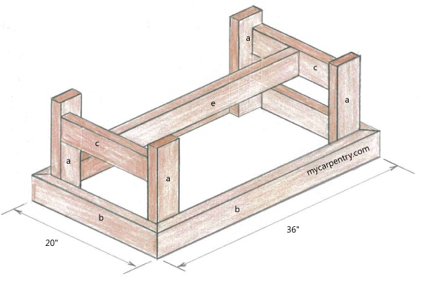 wood coffee table blueprints photo - 2