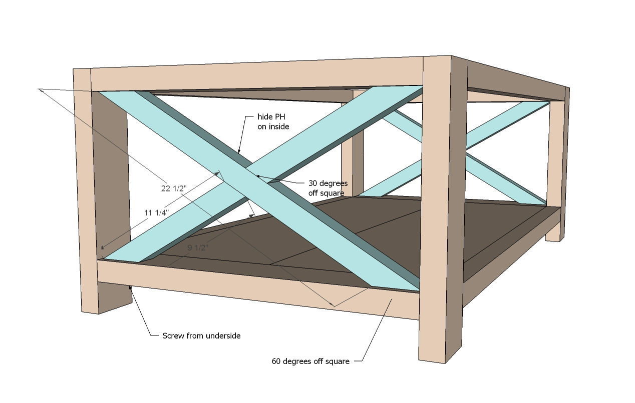 wood coffee table blueprints photo - 4