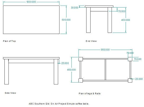 wood coffee table blueprints photo - 6