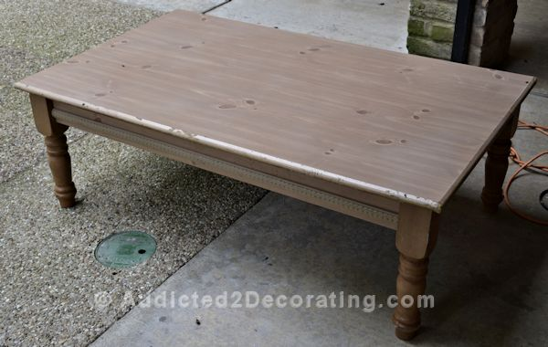 Wood Coffee Table Makeover Interior Amp Exterior Doors