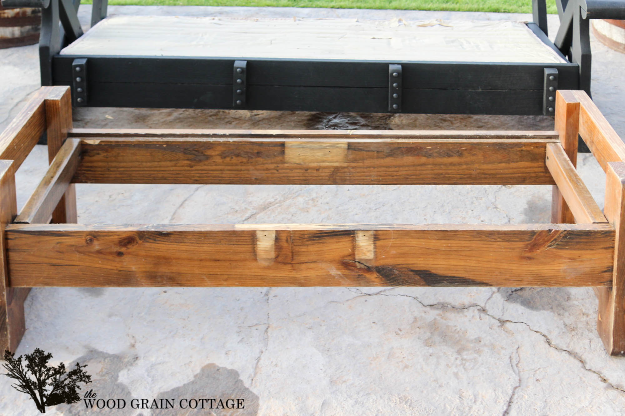 wood coffee table makeover photo - 2