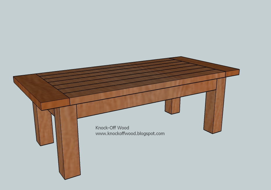 wood coffee table plans photo - 1