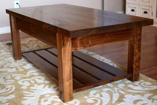 wood coffee table plans photo - 6
