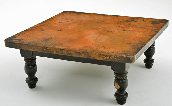wood coffee table square photo - 2