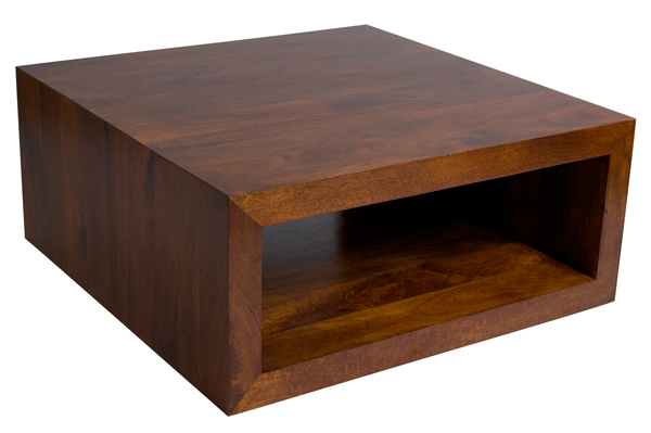 wood coffee table square photo - 3