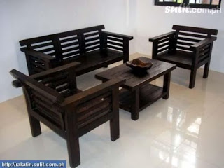 wood furniture designs sala set photo - 2