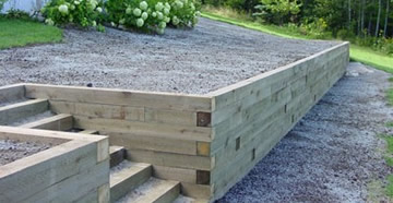 Timber Retaining Wall Designs backfilling Wood Retaining Wall Design Example Photo 6