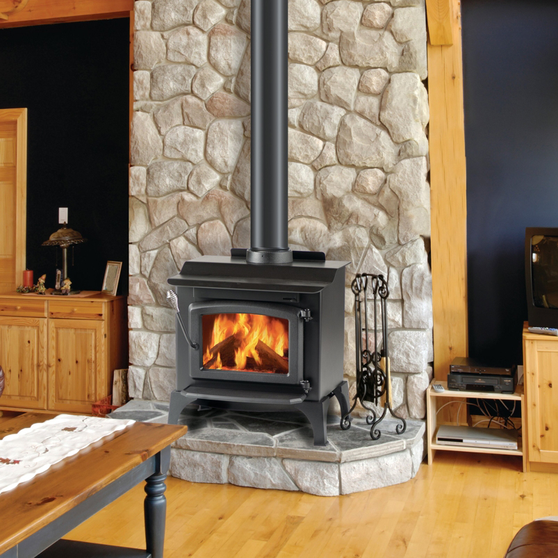 wood stove wall design ideas photo - 5
