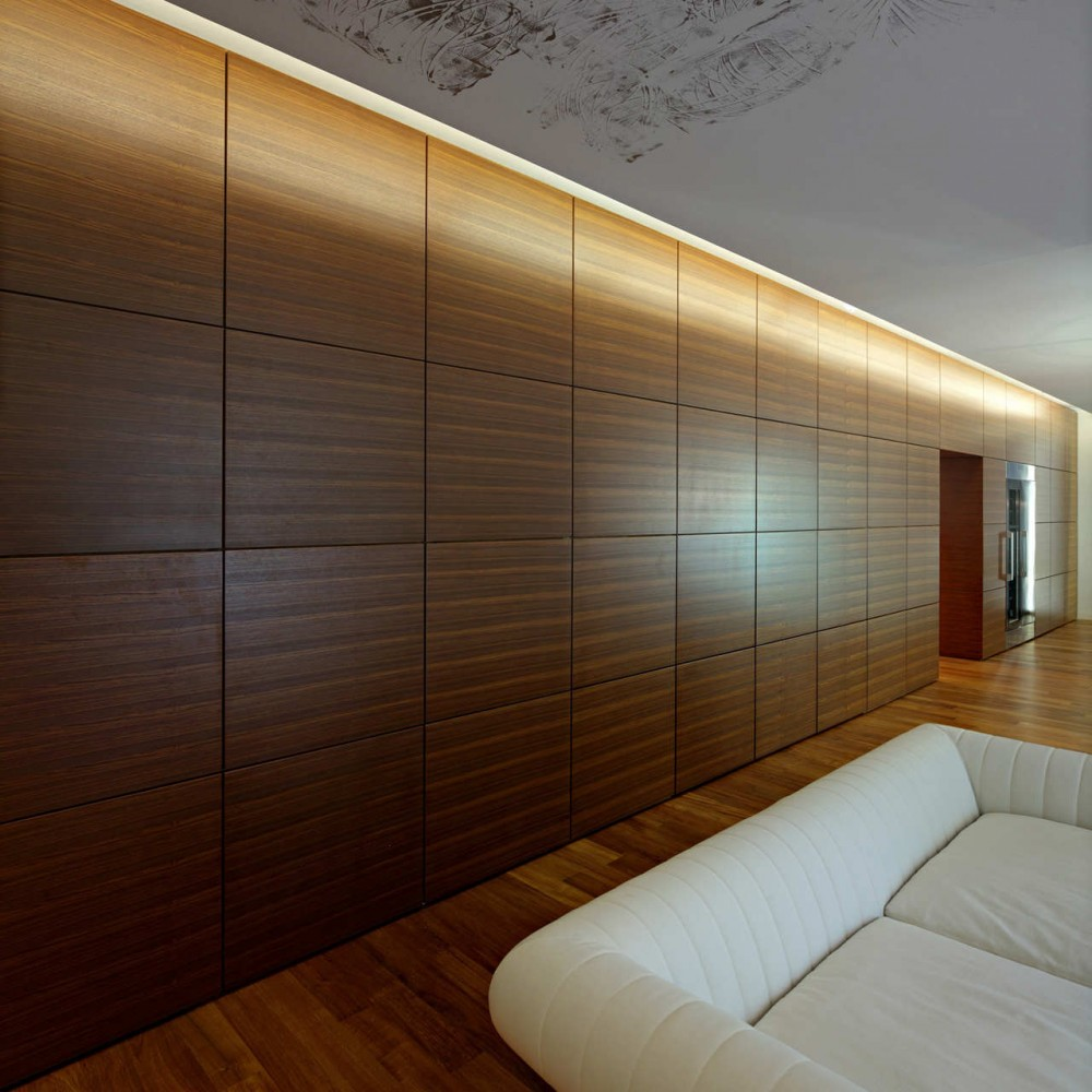 wood wall interior design photo - 1