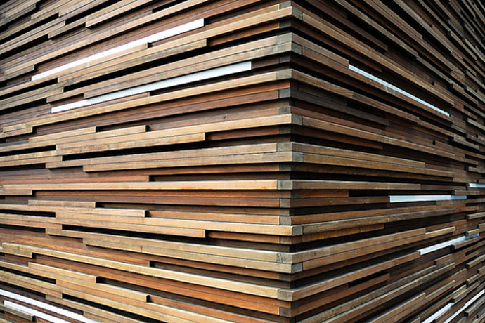 wood wall interior design photo - 4