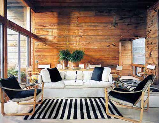 wood wall interior design photo - 6