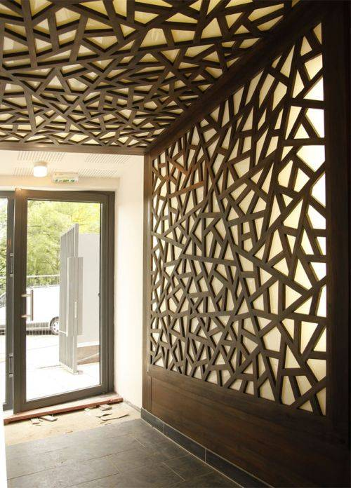 wood wall panel design photo - 4
