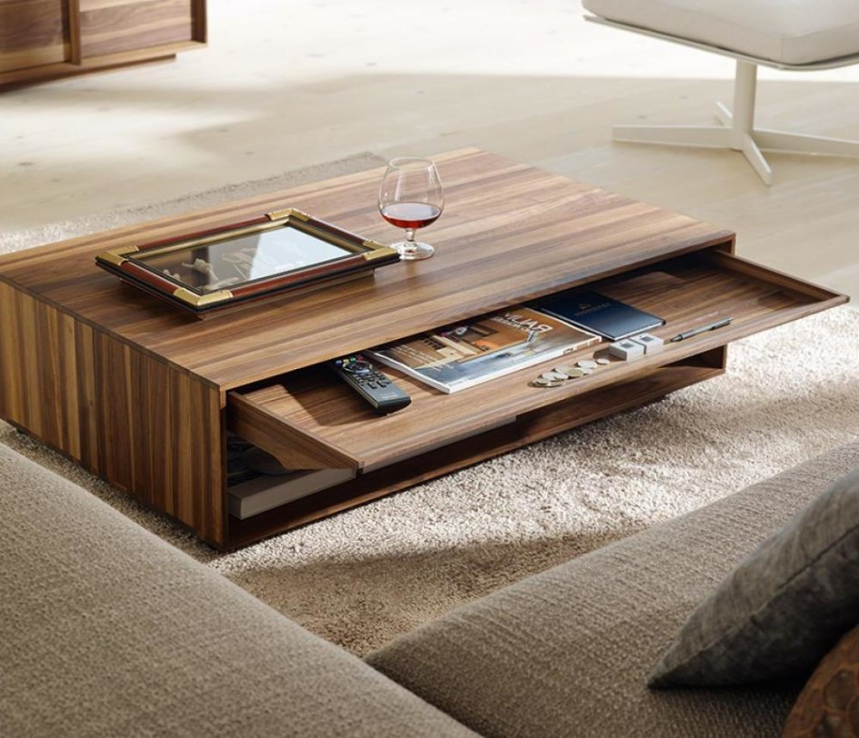 wooden coffee table designs photo - 5