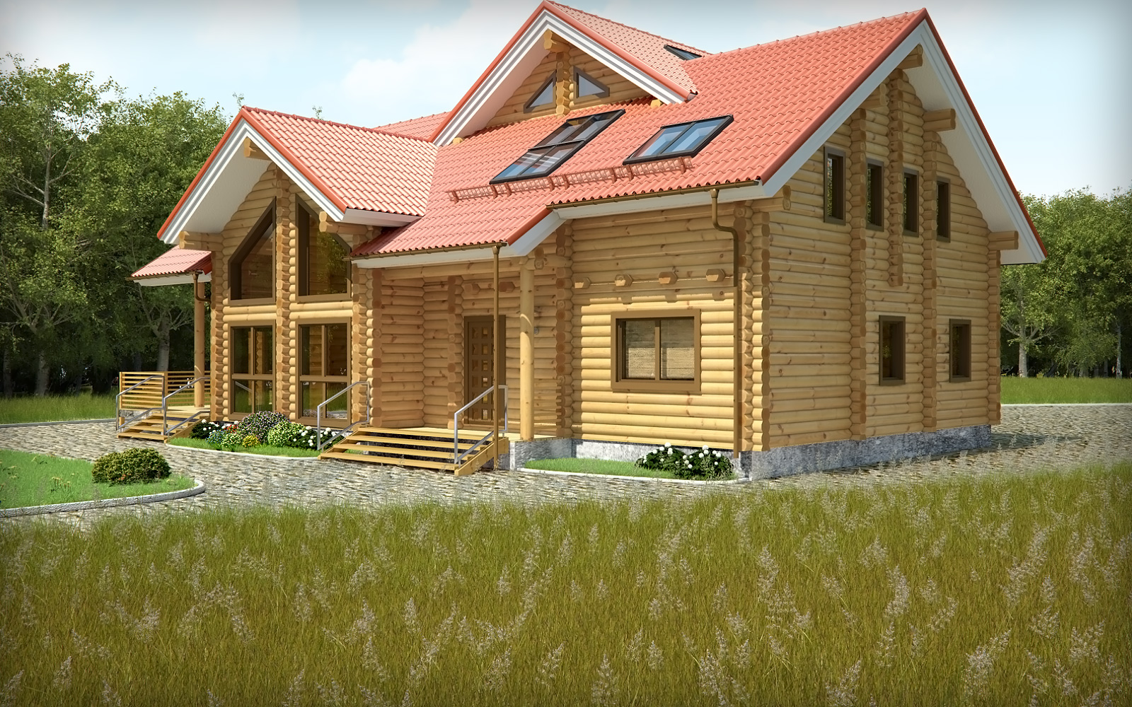 wooden country house design photo - 1