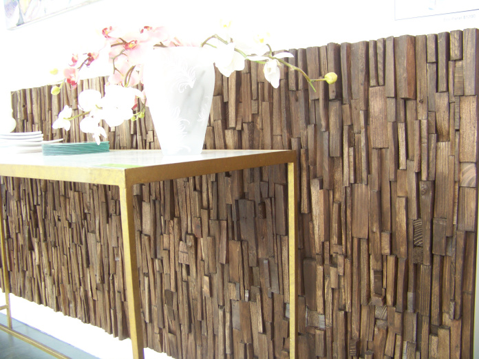 wooden decorative wall panel furniture photo - 2