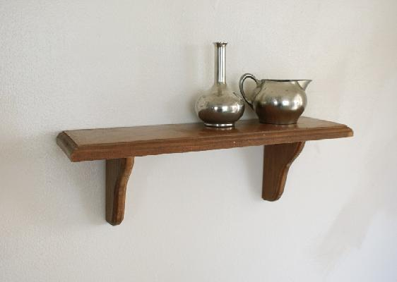 wooden decorative wall shelf photo - 2