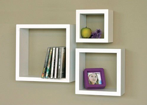 wooden decorative wall shelf photo - 4