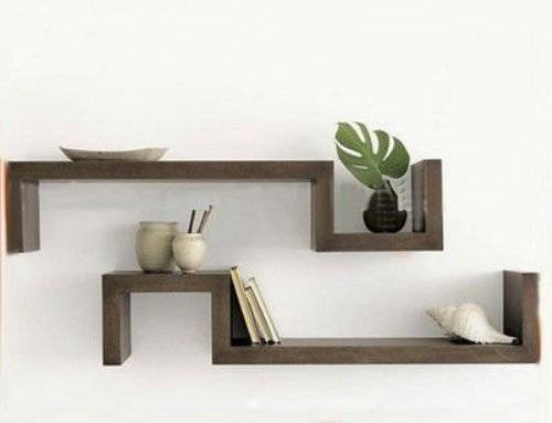 wooden decorative wall shelves photo - 1
