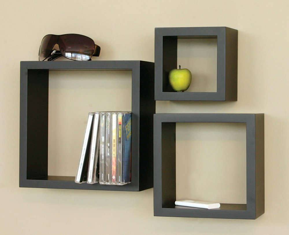wooden decorative wall shelves photo - 4