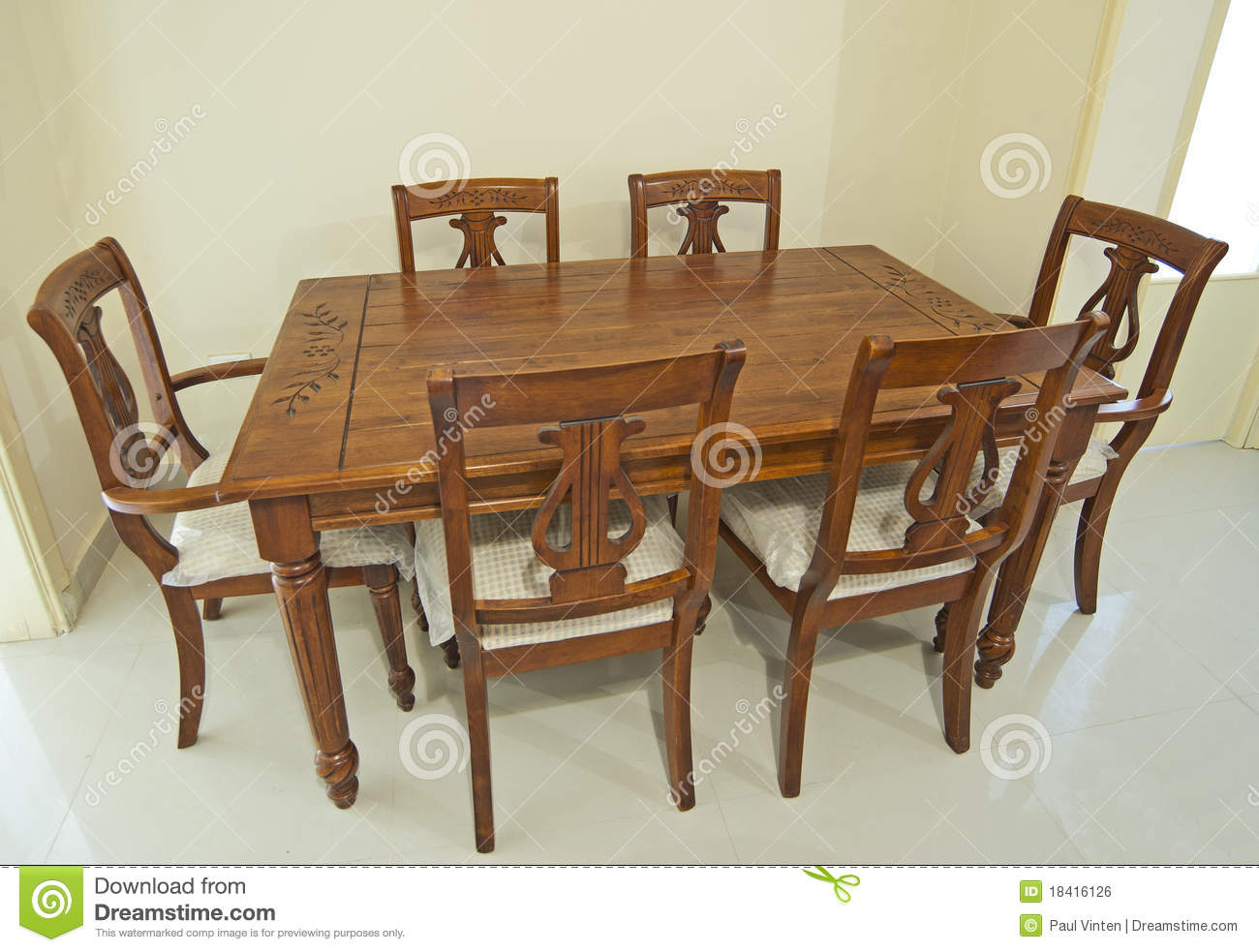 wooden dining tables and chairs photo - 6